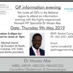 Monash IVF Specialist: GP Information Evening with Dr Moses Abe